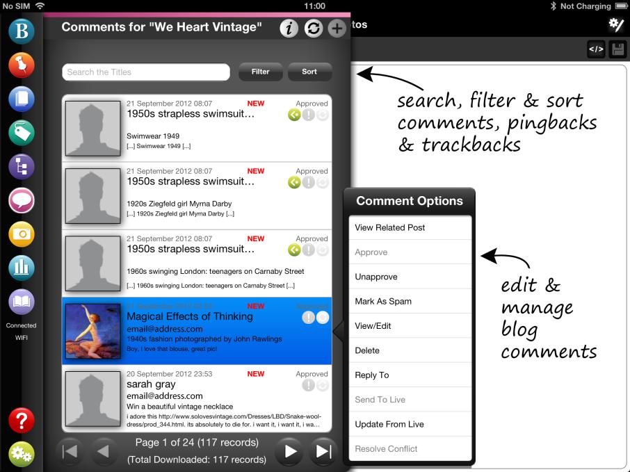 BlogPad Pro screenshot