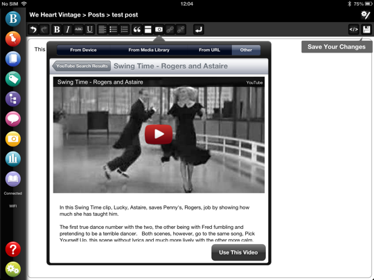Add video to your WordPress blog with BlogPad Pro
