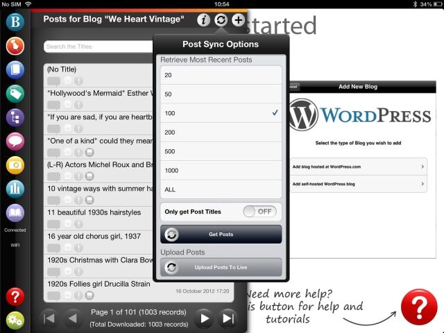 oad Posts using BlogPad Pro