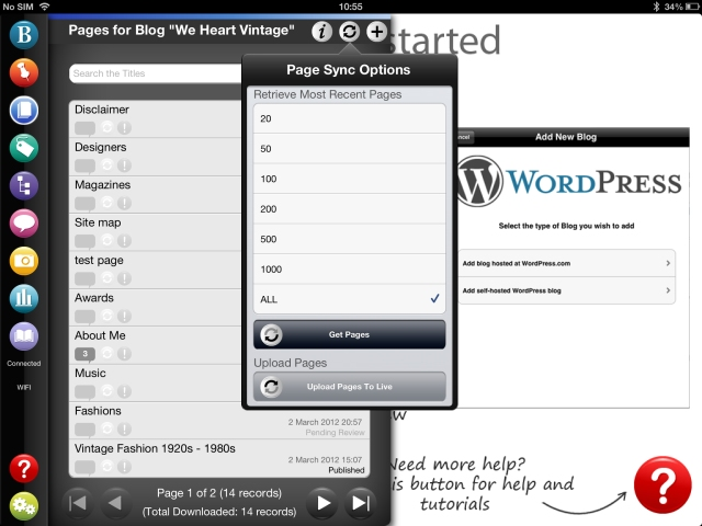 oad Pages using BlogPad Pro