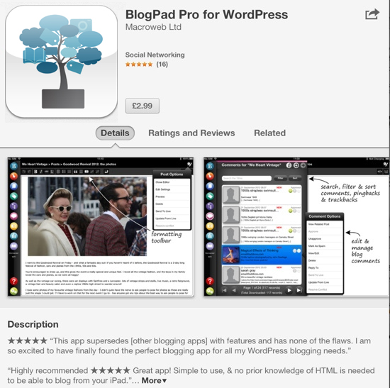 BlogPad Pro app reviews