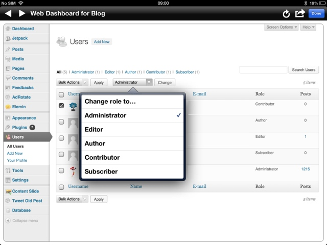 Update Blog Settings in BlogPad Pro